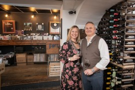 Steve Tattam and Whilmari Swift with Wine and Vinyl
