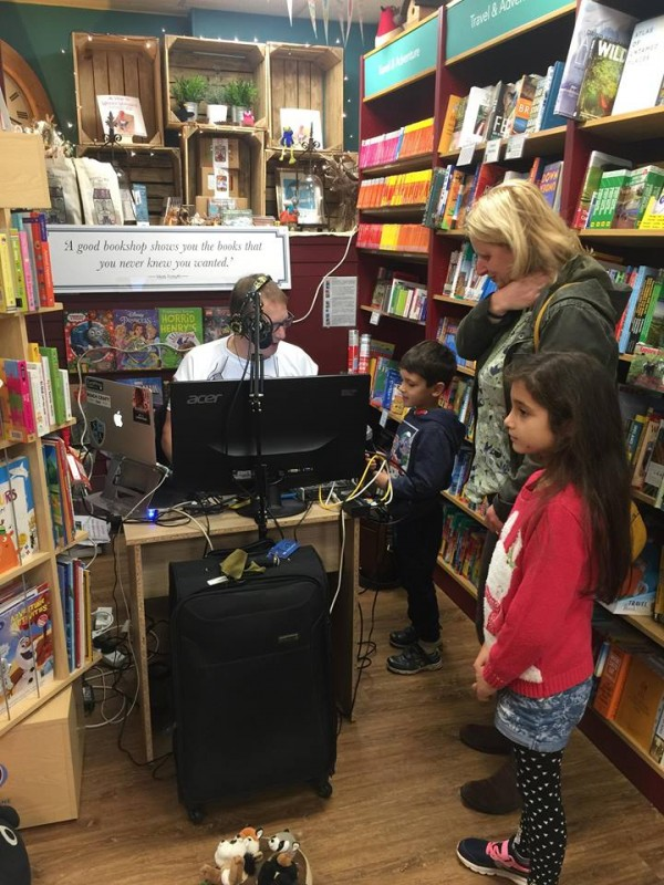 Working with Radio Warwickshire - broadcasting a programme about dyslexia, live from the bookshop.