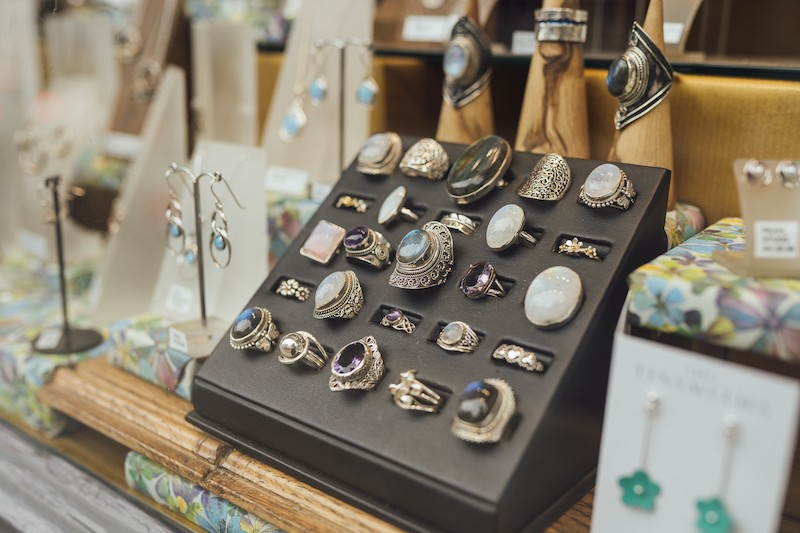 Beautiful silver and gemstone jewellery