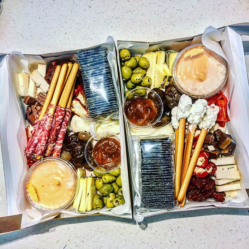 Making up our sharing platters
